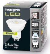 GU10 LED BULB | CLASSIC EDITION | 35W HALOGEN Equivalent | Cool White | INTEGRAL